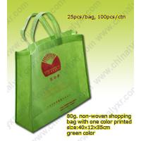 Wholesale Cheap China Nonwoven Shopping Bag in Green from china suppliers