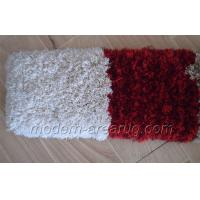Wholesale Wine Solid Colored Polyester Shaggy Rugs, Microfiber Bathroom Rug Customized from china suppliers