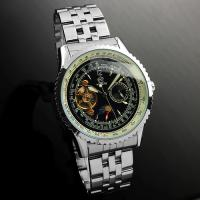Wholesale Wrist Tourbillon Mechanical Automatic Watch Skeleton With Moon phase from china suppliers