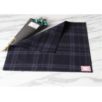 Wholesale 60 Wool Duffle Coat Scottish Plaid Fabric Dark Blue In Stock British Style from china suppliers