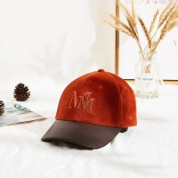 Buy cheap New Style Caps Hats Custom Hat Embroidered Suede Baseball Cap with PU brim from wholesalers