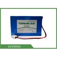 Buy cheap 24V 50Ah Rechargeable Lithium Iron Phosphate Battery WIth Anderson Connector And PVC Pack from wholesalers