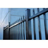 Wholesale 2.4X2.1m Spear top galvanized steel tubular metal fence panel from china suppliers