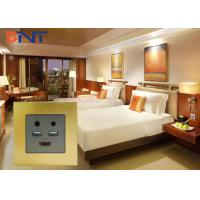 Wholesale Champagne Flush Mount HDMI USB Smart Multimedia Wall Socket With Bluetooth from china suppliers