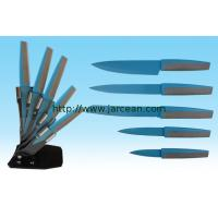 Wholesale kitchen non-stick coating knife set with block from china suppliers
