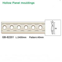 Easy installation 2400mm Pu White foam hollow panel moulding