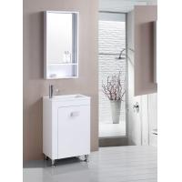 Wholesale floor PVC Bathroom Cabinet / Single Bowl Bathroom Vanities with mirror 550cm from china suppliers