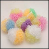 Quality mesh Exfoliating Bath Sponge, shower Pouf from China for sale
