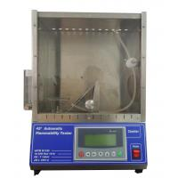 Wholesale EN71 Flammability Testing Equipment 45° Automatic Flammability Tester 220V , 50Hz 0-99.9S from china suppliers