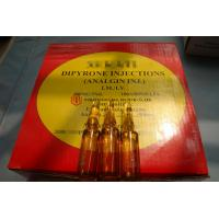 Wholesale GMP Certified Best Quality Dipyrone/Analgin/Metamizole sodium Injection, 500mg/5ml, ink/ceramic print, 100ampoules/box from china suppliers