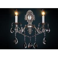 Wholesale Retro Wrought Iron Wall Lights 2 Light for Restaurant , Zinc Alloy and Glass Material from china suppliers