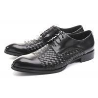 Wholesale Business BV Oxfords Mens Casual Dress Shoes , Mens Black Lace Up Shoes For Party from china suppliers