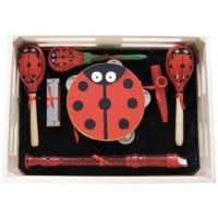 Wholesale Cartoon Kids Music Instrument Percussion Kawai Wood Toy Outfit with Wooden Box from china suppliers
