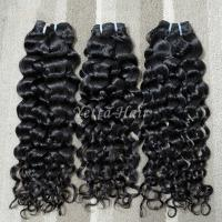 Wholesale Full Hair Bundles Malaysian Curly Hair Extensions Wet and Wavy Hair 1B# from china suppliers