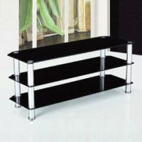 Wholesale TV Stand with Toughened Glass, Table Thickness of 8mm and Aluminum Frame from china suppliers
