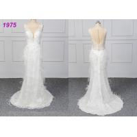 Wholesale Strapless Luxury A Line Ball Gown Wedding Dress , White Ball Gown Dress from china suppliers