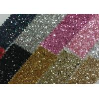 Wholesale Grade 3 Chunky 3D Champagne Glitter Fabric 1.2mm Thickness PU Fabric With 3D Chunky Glitter from china suppliers