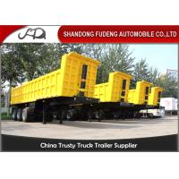 Wholesale 35 CBM 60 Ton End Dump Semi Trailer , Steel Mechanical Dump Trailer from china suppliers