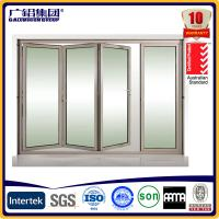 Wholesale aluminum folding doors bi-folding door from china suppliers