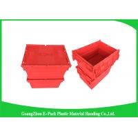 Wholesale Large Volume Stackable Storage Plastic Containers with Attached Lids 600*400*365mm from china suppliers