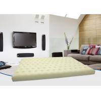 Quality Car / Guest Beige Flocked Air Bed Inflatable Sleeping Mattress 1 Layer PVC Cushion for sale