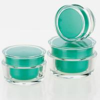 Wholesale ECO-Friendly green cosmetics plastic pp cream jar with different size from china suppliers