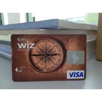 Wholesale New Design VISA Smart Card / Prepaid Debit Card Plastic with HICO Mag-stripe from china suppliers