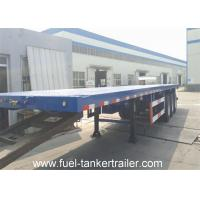 Wholesale Carbon steel 3 axle 40ft flatbed utility trailers for container transport from china suppliers