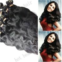 Wholesale 100 % Indian Yaki Wave Non Remy Human Hair Extension Black Tangle Free from china suppliers