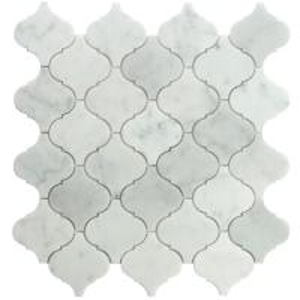 Buy cheap Carrara white lantern shape mosaic tile 12x12