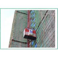 Wholesale Good quality 2000 kg capacity 63m double cages mid speed construction material lift from china suppliers