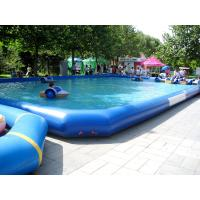 Wholesale Large Outerside Metal Frame PVC Inflatable Swimming Pools , Durable and Portable from china suppliers