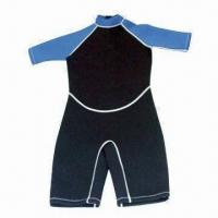 Wholesale Men's Wetsuits with Zigzag Fold Edge on Cuff and Leg Open from china suppliers