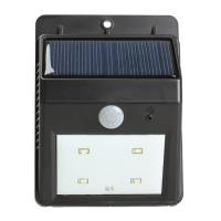 Buy cheap Motion sensor solar lights 4leds garden light outdoor Waterproof led Solar Wall Lamp with solar panel from wholesalers