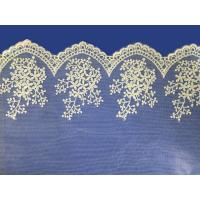 Wholesale African lace fabrics Embroidery Lace Fabric cord guipure white lace fabric from china suppliers