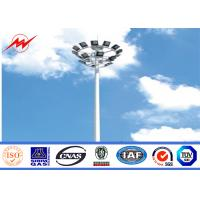 Wholesale 10m 20m 25m 30m high mast tower flood lighting poles for stidum from china suppliers