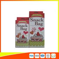 Wholesale Custom Colored Printed LDPE Reusable Ziplock Snack Bag / Sandwich Bags from china suppliers