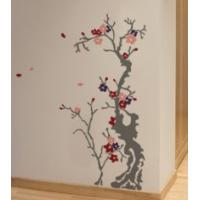 Quality Designer Decorative Contemporary Tree Wall Flower Stickers F326 for sale