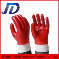 Quality Industrial safety equipment red oil resistant industrial protective gloves for sale