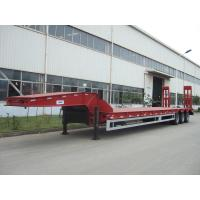 Wholesale 60 ton low bed Semi-trailer with tri-axle and extendable side from china suppliers