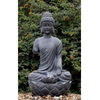Quality Large Zen Inspired Asian Water Fountains In Buddha Statue Shape for sale