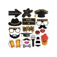 Wholesale Glossy Laminating Selfie Photo Booth Props , Glitter Halloween Photo Party Props from china suppliers