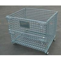 Wholesale 6mm Thickness Industrial Pallet Racks Steel Wire Mesh Containers Stackable from china suppliers