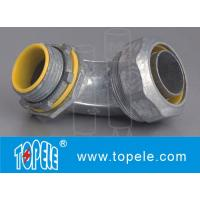 Buy cheap Blue / Yellow Zinc Die Cast Flexible Liquid Tight Conduit Connector Fittings 90 Degree from wholesalers