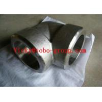 Quality Forged Pipe Fittings UNS N08810 Threaded 90 Degree Elbow High Quality for sale