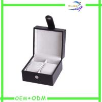 Wholesale Small Mens Watch Gift Boxes Packaging With Leather Handles from china suppliers