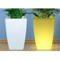 Wholesale Christmas Decoration Led Flower Pots , Color Solar Changing Light Up Plant Pots from china suppliers