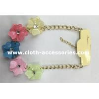Wholesale Resin CrystalHandmade Beaded Necklaces 10 Inch With Five Flowers from china suppliers