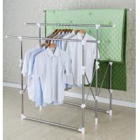 Wholesale Three Bar Adjustable Telescoping Clothes Rack / Mobile Stand Folding Clothes Drying Rack from china suppliers