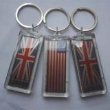 Wholesale Waterproof LED Solar Keychain Logo can be imprinted from china suppliers